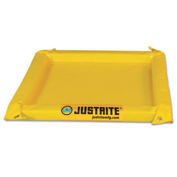 Justrite Maintenance Spill Containment Berms, Yellow, 135 gal, 11 ft x 10 ft (1 EA/EA)