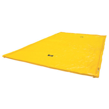 Justrite Maintenance Spill Containment Berms, Yellow, 220 gal, 18 ft x 10 ft (1 EA/EA)