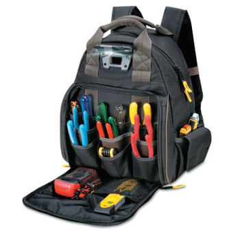 CLC Custom Leather Craft Tech Gear Lighted Backpack, 53 Compartments, 16 in X 13 in (1 EA/EA)