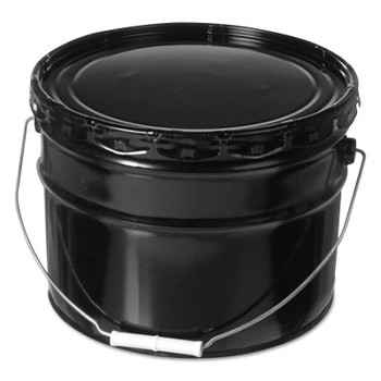 Freund Unlined Open Head Steel Pail, 3 1/2 Gallon, Lug Cap, Black (1 EA/EA)