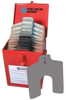 "Precision Brand Slotted Shim Assortment Kits, 6 X 6 in, .001-1/8"" Thick (1 EA/EA)"