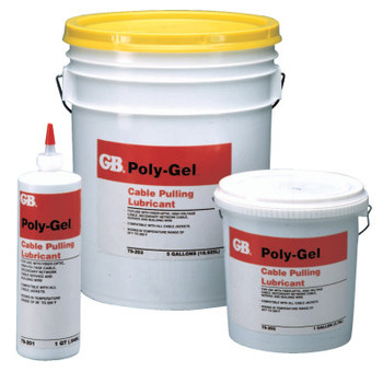 Gardner Bender Poly-Gel Cable Pulling Lubricants, 1 qt Squeeze Bottle (12 CS/EA)