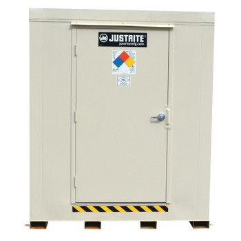 Justrite 4-Hour Fire-Rated Outdoor Safety Locker, Standard, (6) 55-gallon drums (1 EA/EA)