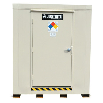 Justrite 4-Hour Fire-Rated Outdoor Safety Locker, Explosion Relief, (6) 55-gallon drums (1 EA/BAG)