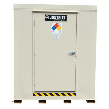 Justrite 4-Hour Fire-Rated Outdoor Safety Locker, Standard, (9) 55-gallon drums (1 EA/BAG)