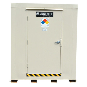 Justrite 4-Hour Fire-Rated Outdoor Safety Locker, Explosion Relief, (9) 55-gallon drums (1 EA/EA)