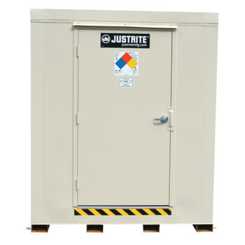 Justrite 4-Hour Fire-Rated Outdoor Safety Locker, Explosion Relief, (12) 55-gallon drums (1 EA/EA)