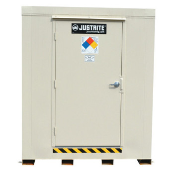 Justrite 4-Hour Fire-Rated Outdoor Safety Locker, Standard, (16) 55-gallon drums (1 EA/PKG)