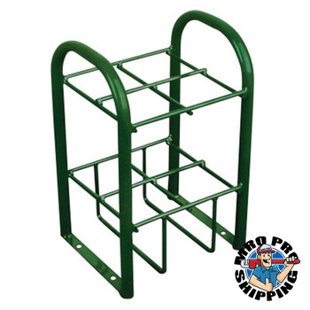 Anthony Multiple Cylinder Stands, Steel, 10 1/2 in W x 19 1/2 in L x 12 1/2 in D, Green (1 EA/EA)