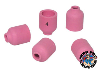 Best Welds Alumina Nozzle TIG Cups, 1/4 in, Size 4, For Torch 20; 22; 25; 9, Small Gas Lens (10 EA/EA)