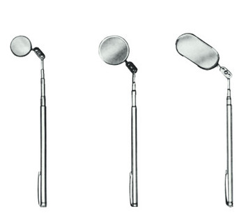 Ullman Pocket Telescoping Inspection Mirrors, 7/8 in Dia., 4 1/2 in-18 in L (1 EA/EA)