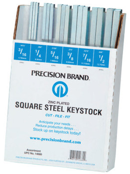 Precision Brand ASSORTMENT OF ALL SQUARE KEYSTK ZINC (1 AST/KT)