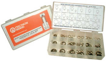 Precision Brand Lengthening Shim Assortments, 4.95 ID, 5.96 OD - 15.50 ID, 19.93mm OD, 330/Set (1 EA/BAG)