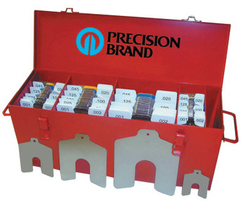 "Precision Brand Slotted Shim Assortment Kits, .0010-1/8"" Thick, Master Asst (1 EA/BAG)"