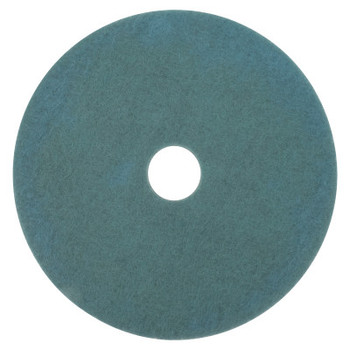 3M Burnish Pads, Polyester/Nylon, Aqua (5 CA/BX)