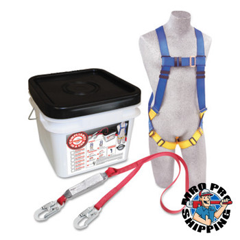 Capital Safety Compliance in a Can Light Roofer's Fall Protection Kits, D-Ring, Hook (1 EA/BX)