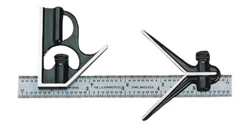 L.S. Starrett 33J Series Junior Combination Squares, 6 in, 16ths; Quick Reading 32nds, 64ths (1 EA/EA)