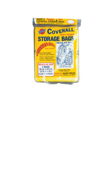 Warp Brothers Oversize Storage Bags, 36 X 60 in, Yellow, 5 per package (5 PKG/BOX)