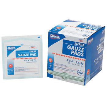 Honeywell Gauze Pads, 4 in x 4 in (1 BX/BOX)