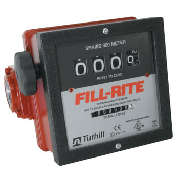 Fill-Rite Mechanical Flow Meters, 1 1/2 in Inlet, 6 gal/min - 40 gal/min, 4 Wheel (1 EA/EA)