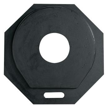 TrafFix Devices, Inc. Molded Rubber Drum Base Only, TC Barrel, 40 lb, Rubber, Black (1 EA/EA)