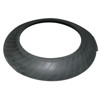 TrafFix Devices, Inc. Tire Sidewall Drum Base Only, 35 1/2 in Diameter, 25 lb, Rubber, Black (1 EA/EA)