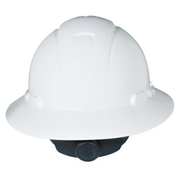 3M Full Brim Hard Hats, 4 Point, Rachet, White (20 CA/EA)