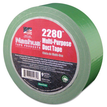 Berry Global 2280 General Purpose Duct Tapes, Green, 55m x 48mm x 9 mil (24 RL/EA)