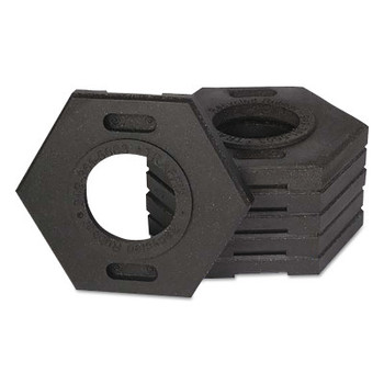 TrafFix Devices, Inc. Delineator Tall Cone Base, 10 lb, Rubber, Black (1 EA/EA)