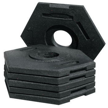 TrafFix Devices, Inc. Delineator Tall Cone Base, 16 lb, Rubber, Black (1 EA/EA)