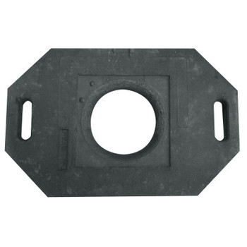 TrafFix Devices, Inc. Delineator Tall Cone Base, 30 lb, Rubber, Black (1 EA/EA)