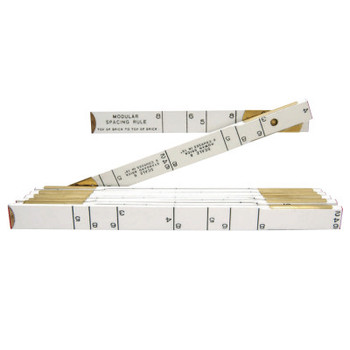 Apex Tool Group Red End Modular Spacing Rulers, 6 ft, Wood, 6 Scales (1 EA/EA)