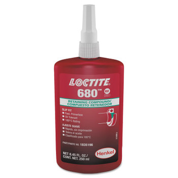 LOCTITE 680 Retaining Compound, 250 mL Bottle, Green, 4,000 psi (10 CA/EA)