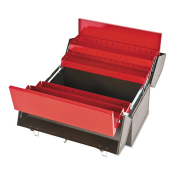 Stanley Products Cantilever Tool Boxes, 10 in D, Steel, Red/Brown (1 EA/EA)