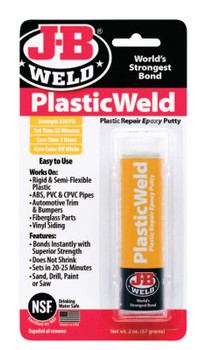 J-B Weld KwikPlastik Epoxy Putty, 2 oz (6 EA/EA)
