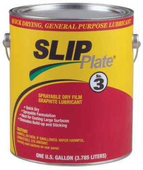 Precision Brand SLIP Plate No. 3 Dry Film Lubricants, 1 gal Can (4 CA/EA)