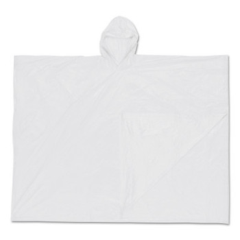 MCR Safety Schooner Poncho, 0.1 mm PVC Film, Clear, One Size Fits All (50 CA/EA)