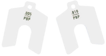 "Precision Brand Decimal Slotted Shim Refill Packages, 0.0025"", Stainless Steel 300, 1/8 x 3 x 3 (5 PKG/EA)"