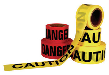 Intertape Polymer Group Economy Barricade Tape, 3 in x 1,000 ft, Yellow, Danger (12 CA/EA)