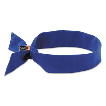 Ergodyne Chill-Its 6700FR Evaporative Flame Resistent Cooling Bandanas, Solid Blue (6 CA/PR)