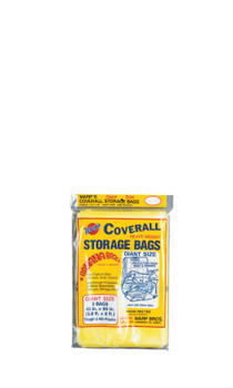 Warp Brothers Oversize Storage Bags, 45 X 96 in, Yellow, 3 per package (3 PAK/BG)