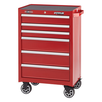 Waterloo Pro Series Cabinets, 26 1/2 in x 18.1 in x 35.6 in, 5 Drawers, Red (1 EA/BG)
