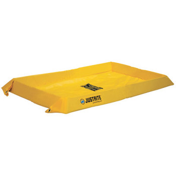 Justrite Maintenance Spill Containment Berms, Yellow, 20 gal, 48 in x 24 in (1 EA/EA)
