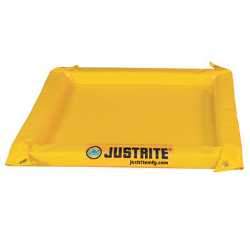 Justrite Maintenance Spill Containment Berms, Yellow, 20 gal, 48 in x 48 in (1 EA/EA)