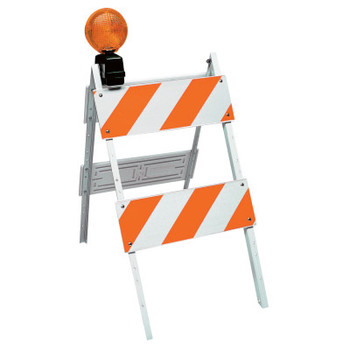 TrafFix Devices, Inc. All Plastic Type II Barricades, 8 in x 24 in Panels, LDPE, White (1 EA/EA)