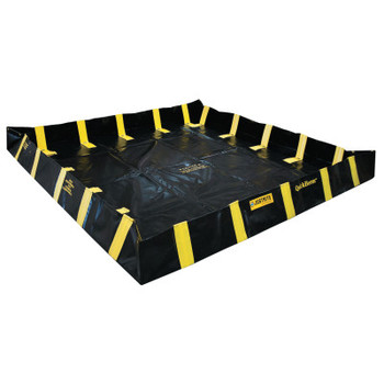 Justrite QuickBerm Spill Containment Berms, Black/Yellow, 745 gal, 10 ft x 120 in (1 EA/EA)