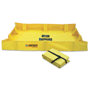Justrite QuickBerm Lite Spill Containment Berms, Yellow, 79 gal, 48 in x 48 in (1 EA/EA)