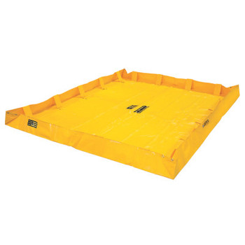 Justrite QuickBerm Lite Spill Containment Berms, Yellow, 318 gal, 96 in x 96 in (1 EA/EA)