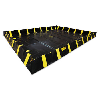 Justrite QuickBerm Spill Containment Berms, Black, 2990 gal, 20 ft x 20 ft (1 EA/ST)