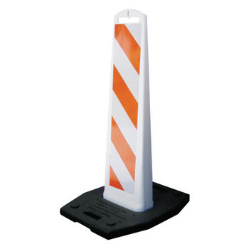 TrafFix Devices, Inc. Vertical Barricade Premier Panels, 2-Sided, 8 x 36, , LDPE, HI White/Orange, (1 EA/ST)